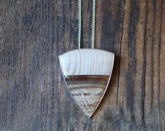 Boardwalk Pendant Petrified Wood