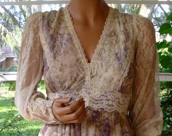 "Gunne Sax Dress ""A Lovely Watercolor"""