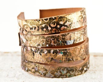 Boho Fashion, Leather Jewelry, Leather Cuffs, Leather Bracelets, Wide Wrist Bands
