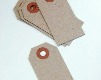 25% Off Summer Sale Mini Shipping Paper Tags - Natural Brown Kraft - 1.375 x 2.75 - Pack of 25