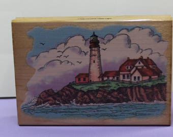 Portland Head Lighthouse Rubber Stamp