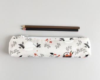 Cute Gardening Pencil Pouch Skinny Pencil Case Cute Pencil Case Geometric Purse Organizer