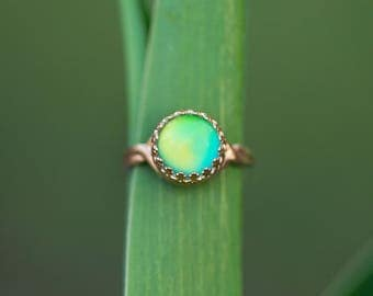 Gold Mood Ring/ Color Changing Ring/ Gold Ring/ Boho Jewelry/ Hippie Ring/ Festival Jewelry/ Mood Jewelry/ Real Mood Ring
