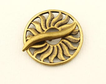 Antique Brass Sun Toggle Clasp, Jewelry Beading Supplies Findings