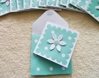 """15 - 2"""" Mini Note Cards/Gift Cards with Matching Envelopes"""