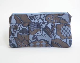 Nana purple and brown floral Sophie clutch