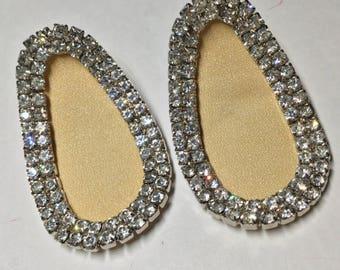 Vintage Rhinestone Pair of Shoe Clips