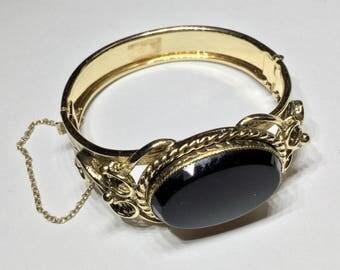 Vintage Costume Hinged Bangle Bracelet