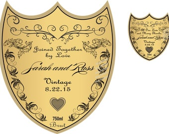 Private Listing for idodlbdrcom Personalized Wedding Champagne Labels - Wedding Gifts - Wedding Favors