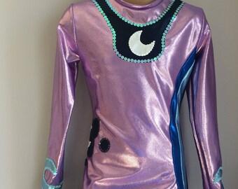 My Little Pony LUNA Inspired UNITARD. Princess Luna Costume. Performance Costume.  Princess Luna Halloween Costume. Size 2t-Girls 10
