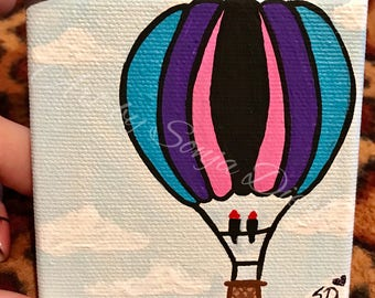 Up Up and Away Mini Painting
