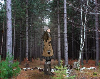 The Wilderness Was Her Home, woodland decor, rustic wall art, birch trees, girls room, rugged landscape, girls room decor