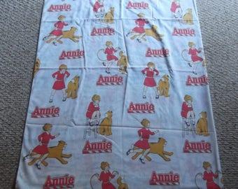 80s Annie and Sandy  Little Orphan Annie Twin Flat Sheet