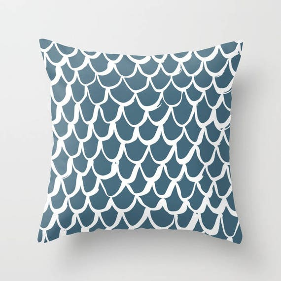 OUTDOOR Throw Pillow . Mermaid Outdoor Pillow . Teal patio cushion . 16 18 20 inch . Teal Mermaid Outside Pillow . Teal Outdoor Pillow