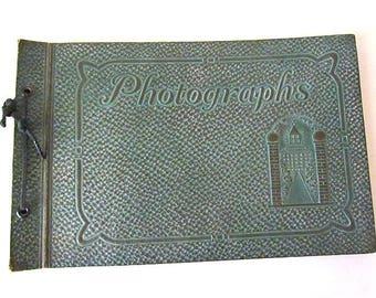 Vintage Art Deco Era Empty Photo Album Verdigris Look