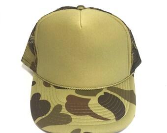 Blank duck camouflage trucker hat