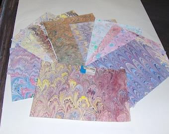 marbled paper,, pack 12,,   scrapbook paper -  cm 25 x 17,5  -  6010