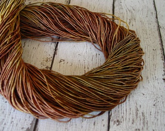 Pre-Cut Sale - Hand Dyed LEAF PILE cord, 13 yards