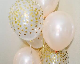 Peach Latex Balloons, Peach Wedding, Peach Balloons, Pearl Peach Latex Balloons, Bridal balloons, Peach Balloon Set, Peach Latex