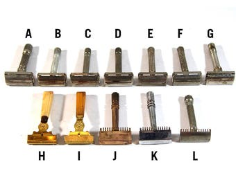 YOU PICK Vintage Safety Razor – Gillette, Fat Boy, Super Speed, Old Type, Gem Micromatic, Eversharp Shick, Shick Injector