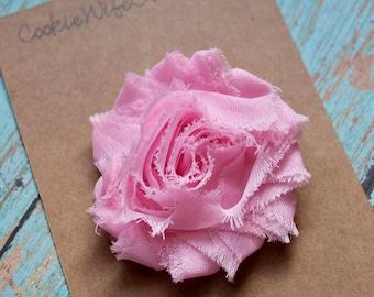 Shabby Baby Pink Flower Hair Clip