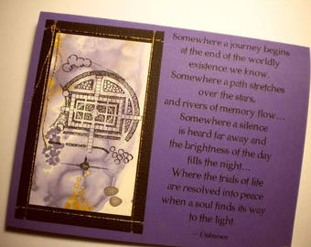 SOUL'S JOURNEY ~ Mixed media collage art card with inspirational verse (sympathy, encouragement)