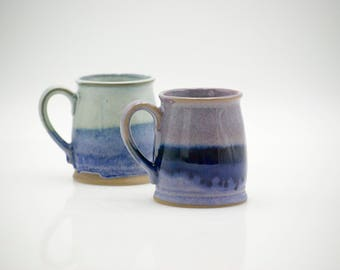 Pottery Coffee Mug - Ceramic Mugs - - Amethyst mug - Purple umbre mug - Tea Stoneware cup -  Coffee mug - lavender mug  - housewarming gift