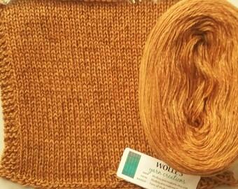 CURRY SILK HEATHER -- Sport Weight -- Silk/Cotton/Merino yarn (100 gr /320 yards)