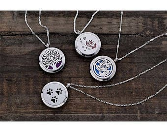 Aromatherapy Necklace - Stainless Steel Essentials Oil Diffuser - Necklace - Scented Necklace