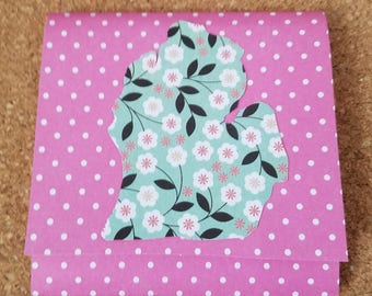 Floral Michigan Sticky Note Pad Holder