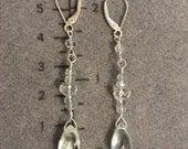 Custom long Aquamarine Earrings