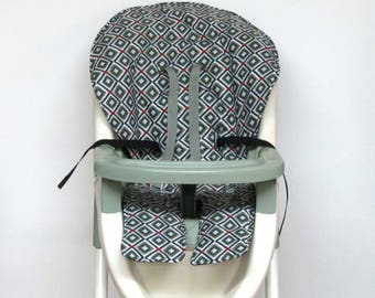 Graco high chair cover, baby accessory replacement chair pad, feeding chair pad, kids furniture, child chair, chair cushion, sage and pine