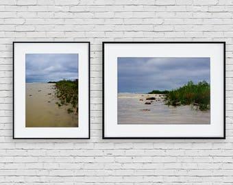 WATER'S EDGE print set | instant download, printable, wall art, nature, modern, surreal, stormy, beach, lake, ocean, seaside, michigan, wild