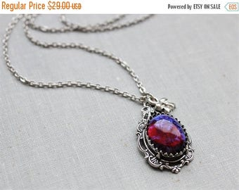 VACATION SALE- Dragons Breath Mexican Fire Opal Necklace