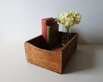 Vintage wood box Dovetailed wooden box Rustic wood box