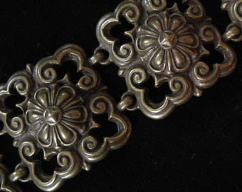 Ben Amun Solid Brass Bold Middle Eastern Style Bracelet