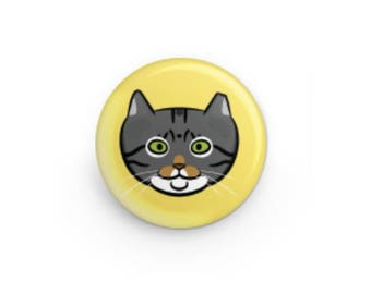 Feral Cat Button - Walter