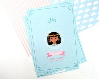 """Invitations birthday theme """"Egyptian - Cleopatra"""""""