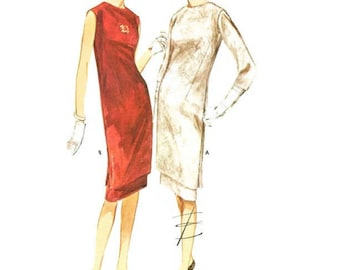 1960s Tunic and Skirt Cocktail Dress Pattern Butterick 2763 B34 Sz 14