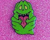 Glitter variant - Spud of Love - Slimer enamel pin