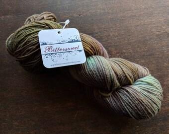 Bittersweet Woolery, Guilty Pleasures Sock Yarn - Glow Worm