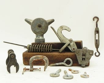 10 Salvaged Hardware Found Objects Repurpose Altered Art Steampunk Assemblage Supply