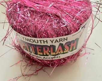 Plymouth Glitterlash Yarn, Sparkly Pink Yarn