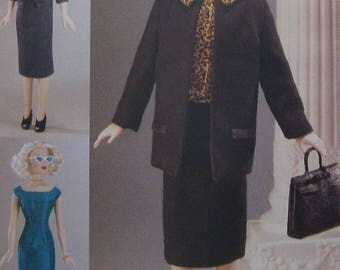 GENE Doll Clothes Sewing Pattern UNCUT Vogue 7223 coat dress