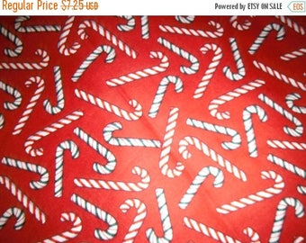 Fun Candy Cane Fabric--Great for Quilting n more