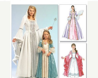 Gorgeous Princess Mother n Daughter Patterns--UNCUT--So Cute--Ms Sz sml-Xlg --40-70% off Patterns n Books SALE