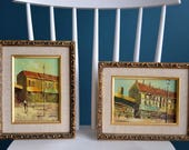 Set of Two Vintage Framed Original Paintings