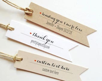25 Custom Wedding Favor Tag Smores Labels sending you smore love tags Custom Smores Tags Smore Favor Tags wedding thank you tags Gift Tags