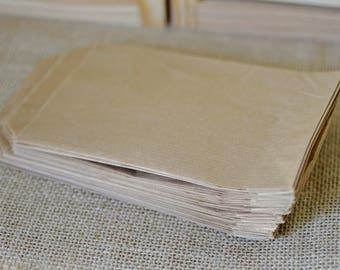 Kraft favor bag, brown paper, (20 pcs) 10x16cm, gift pouch, wedding celebration decoration, birthday party gift, invitation envelope