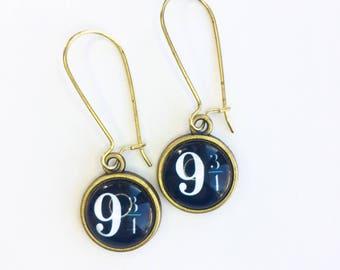 Harry Potter Dangler Earrings on kidney wires!